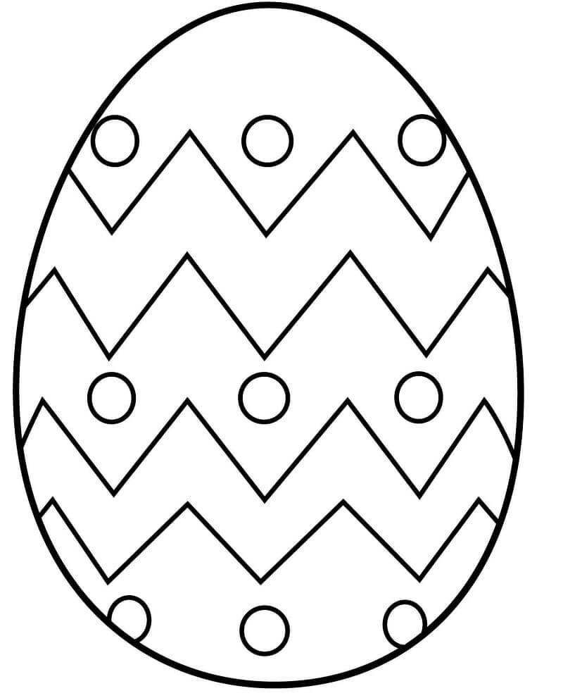 Раскраска пасхальное яйцо 2