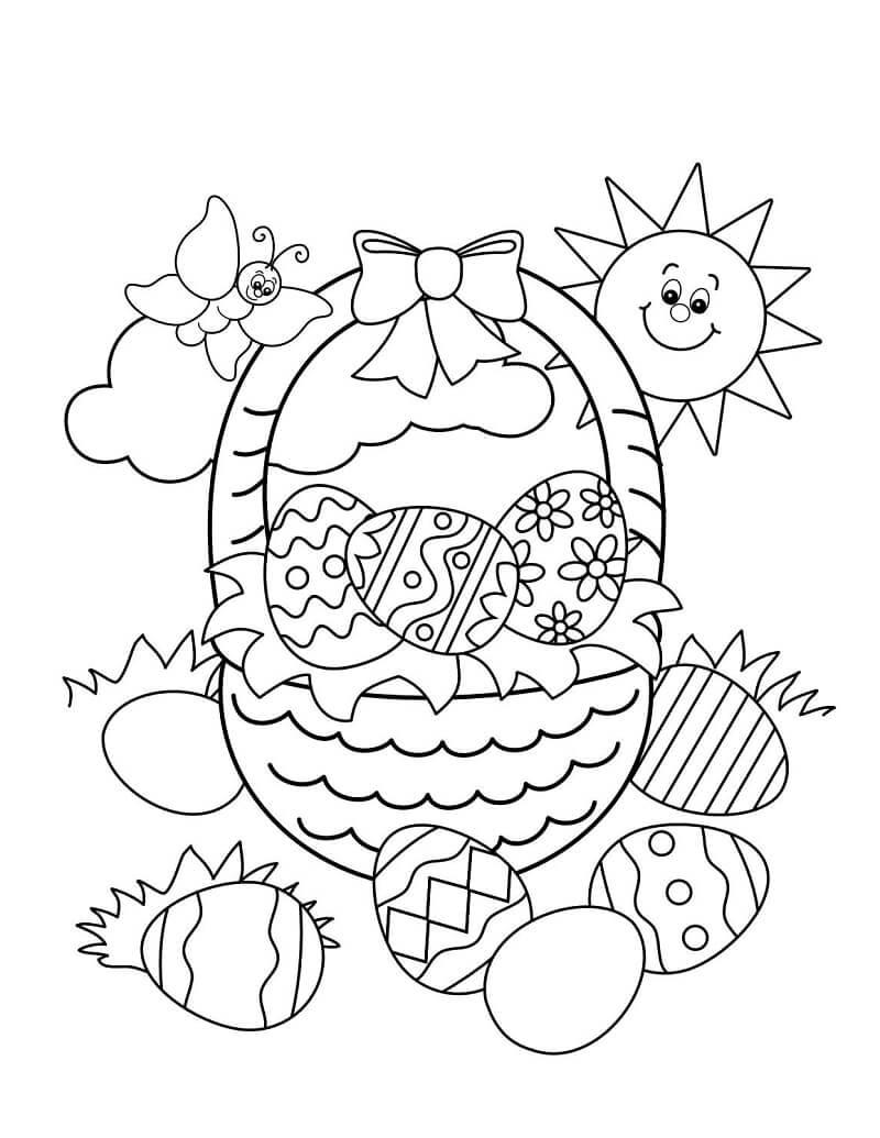 Раскраска пасхальных яиц 1