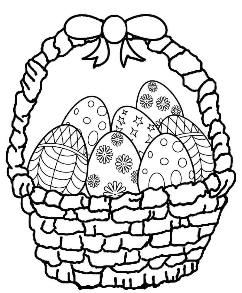 Раскраска пасхальных яиц