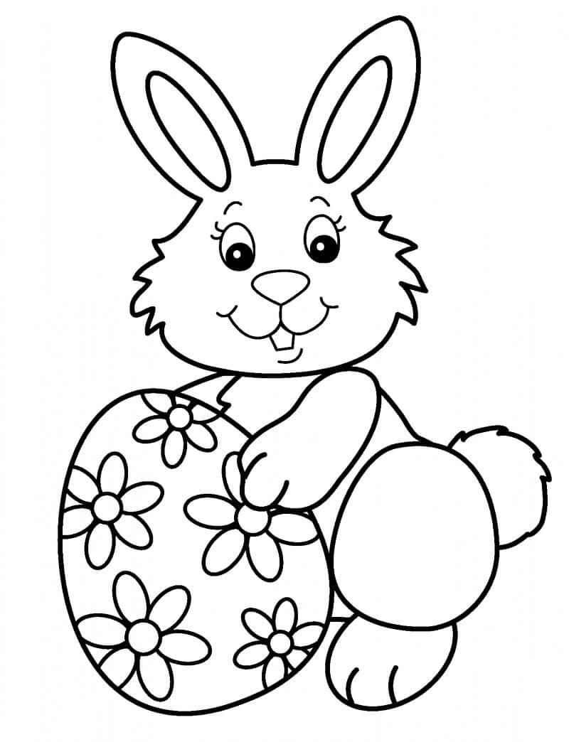 Раскраска пасхальный кролик 4