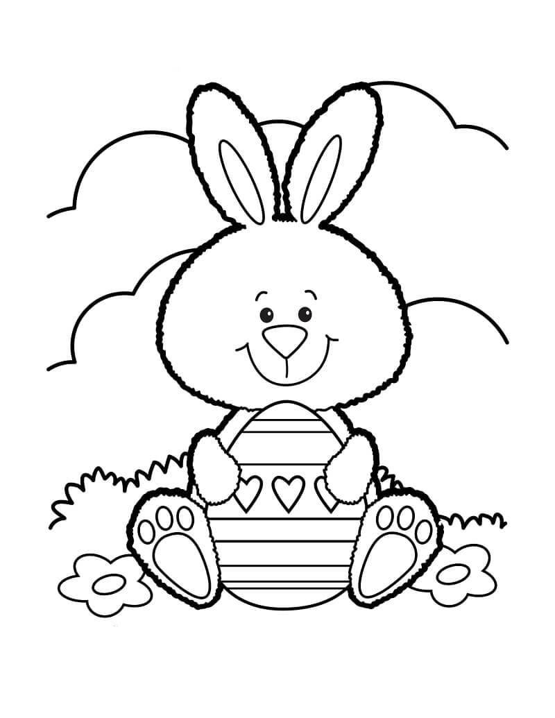 Раскраска пасхальный кролик 5