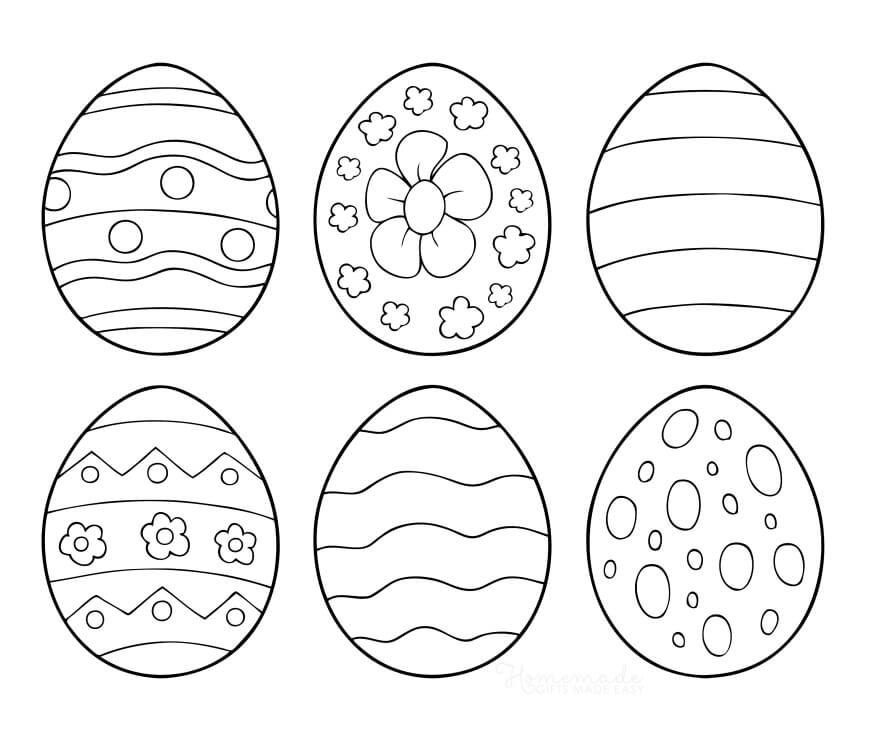 Раскраска Пасхальные яйца 1