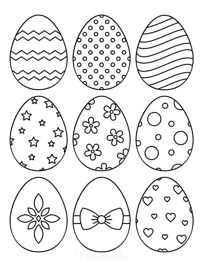 Раскраска Пасхальные яйца 2