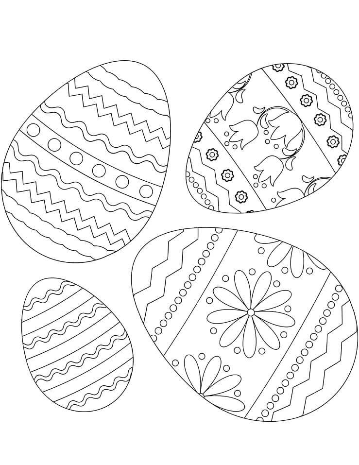Раскраска Пасхальные яйца 3