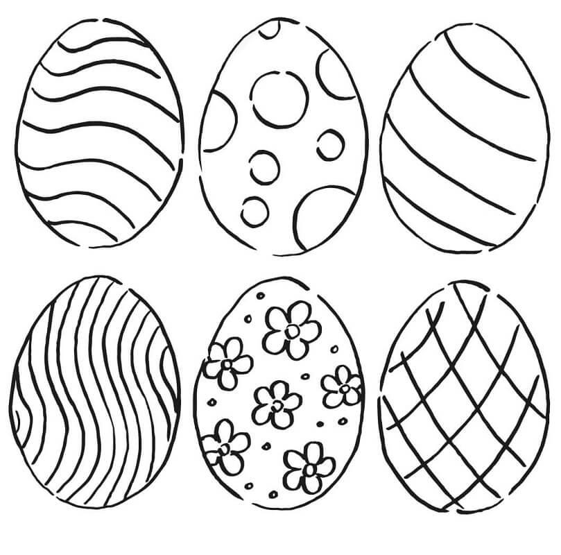 Раскраска Пасхальные яйца 4