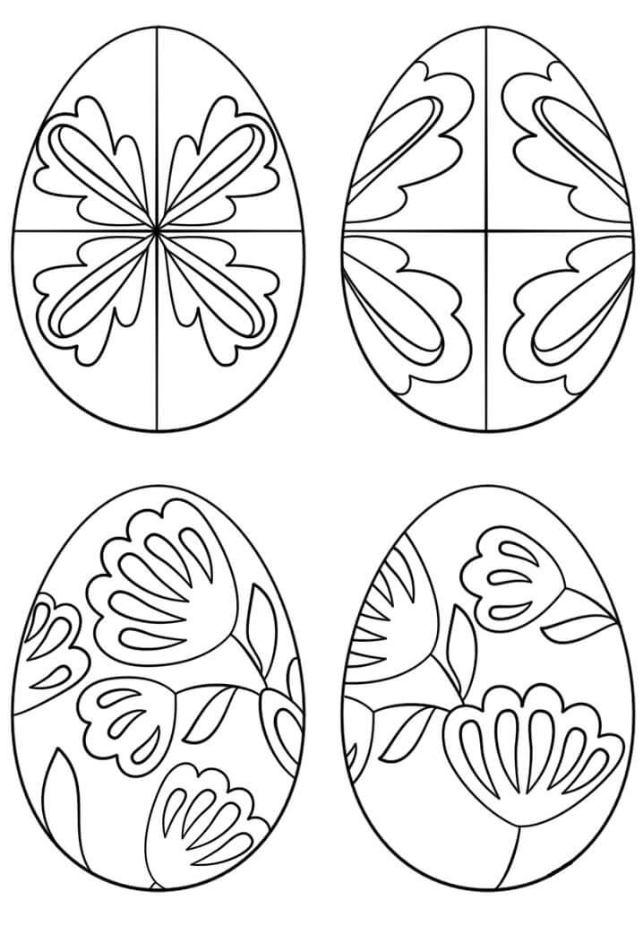 Раскраска Пасхальные яйца 5