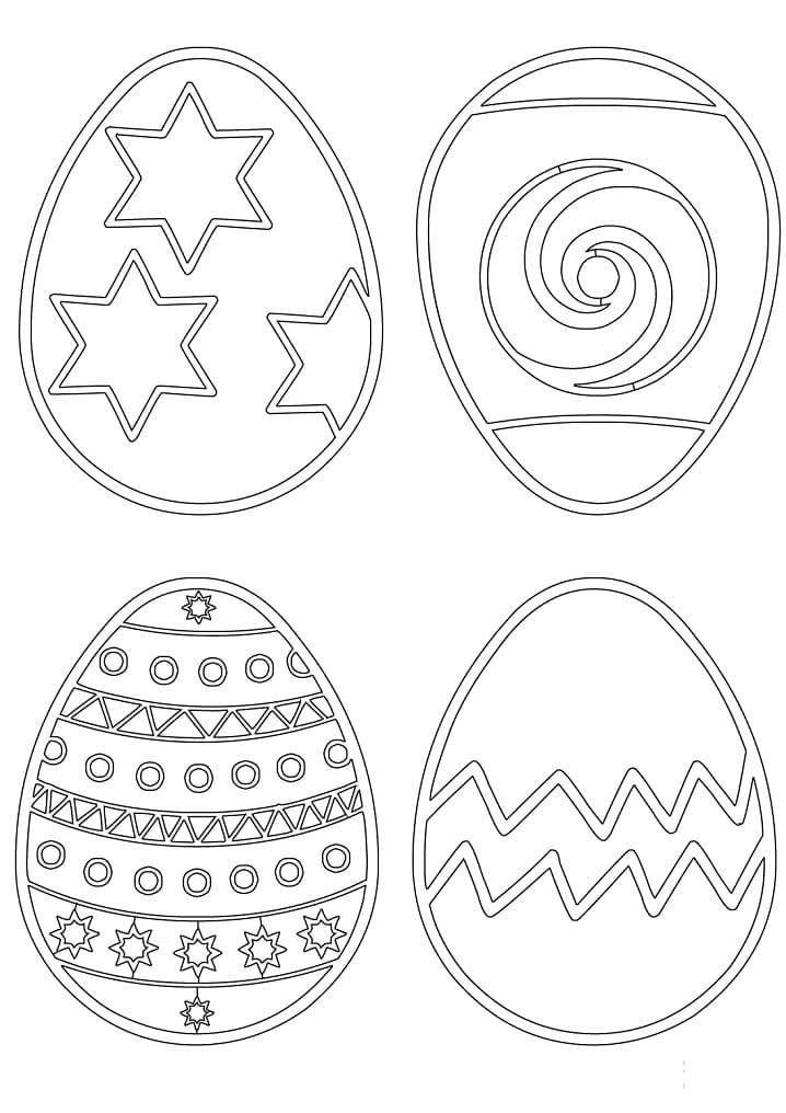 Раскраска Пасхальные яйца 7
