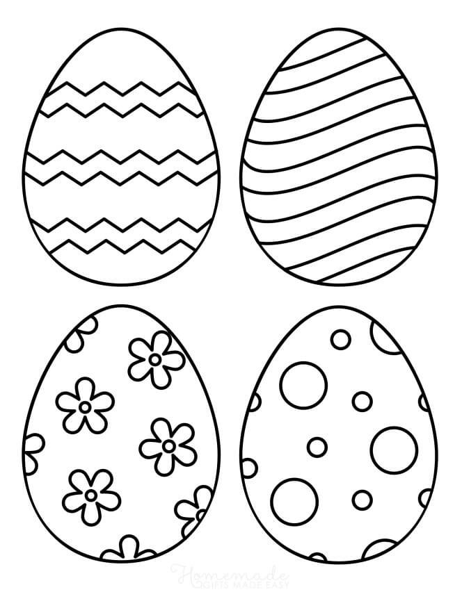 Раскраска Раскраски Пасхальное яйцо