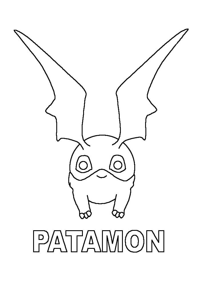 Раскраска Патамон
