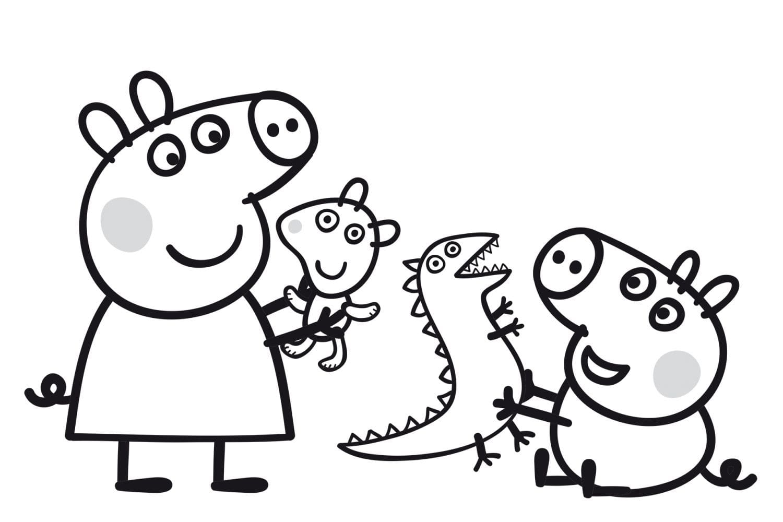 Раскраска Пеппа и игрушки