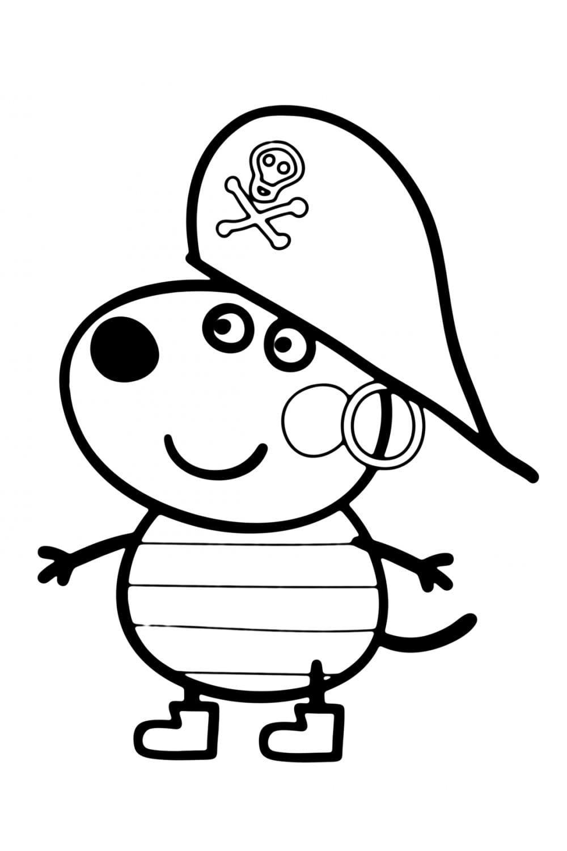 Раскраска Пеппа-пират