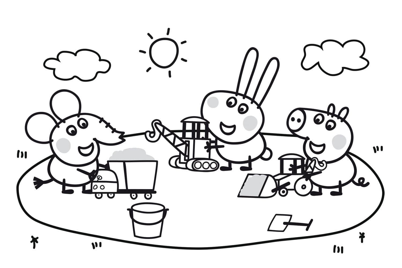 Раскраска Пеппа с друзьями