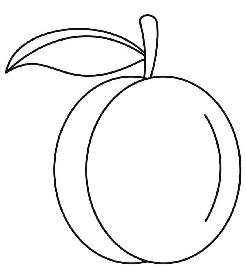 Раскраска Персик 10