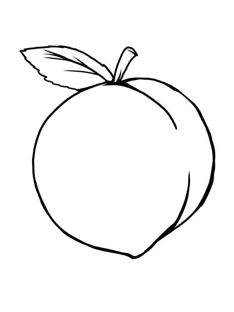 Раскраска Персик 3