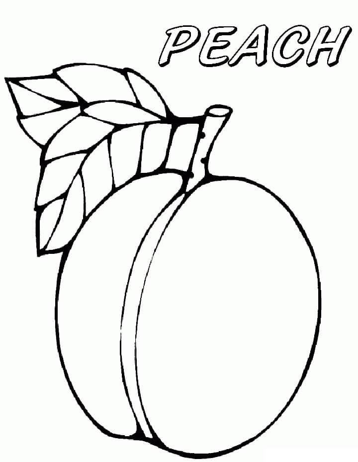 Раскраска Персик 5