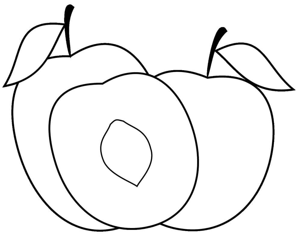 Раскраска Персики 1