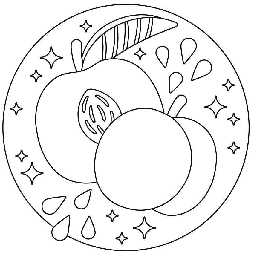 Раскраска Персики 10
