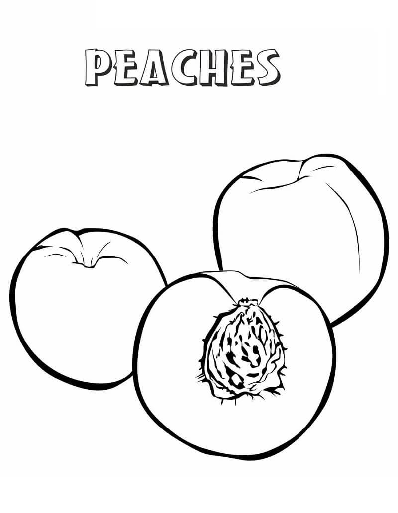 Раскраска Персики 5