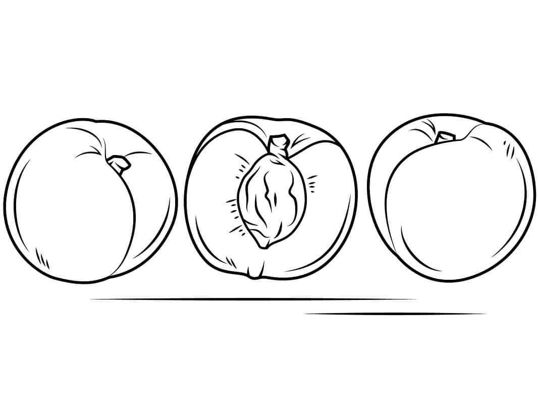 Раскраска Персики 8