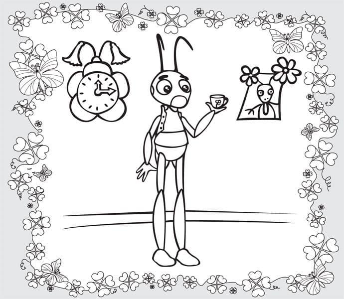 Раскраска персонажа из лунтик 13
