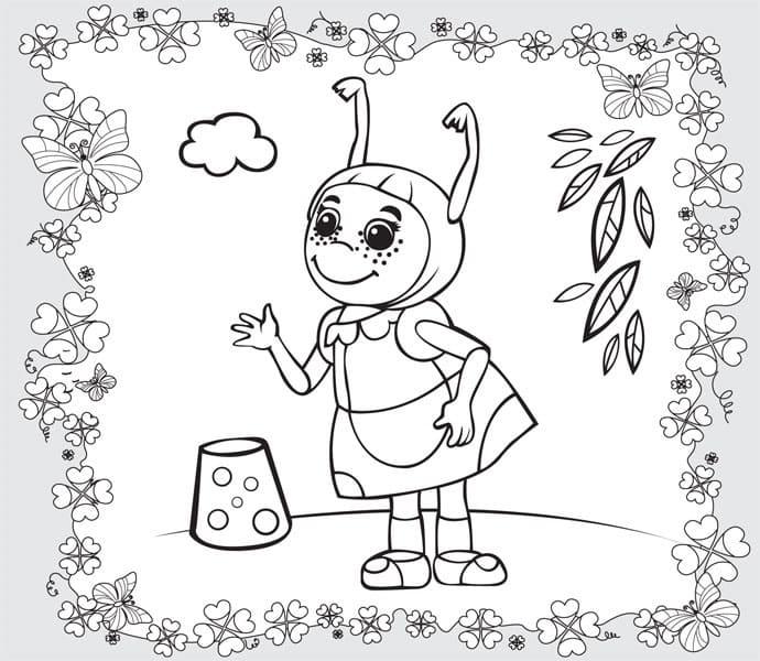 Раскраска персонажа из лунтик 14