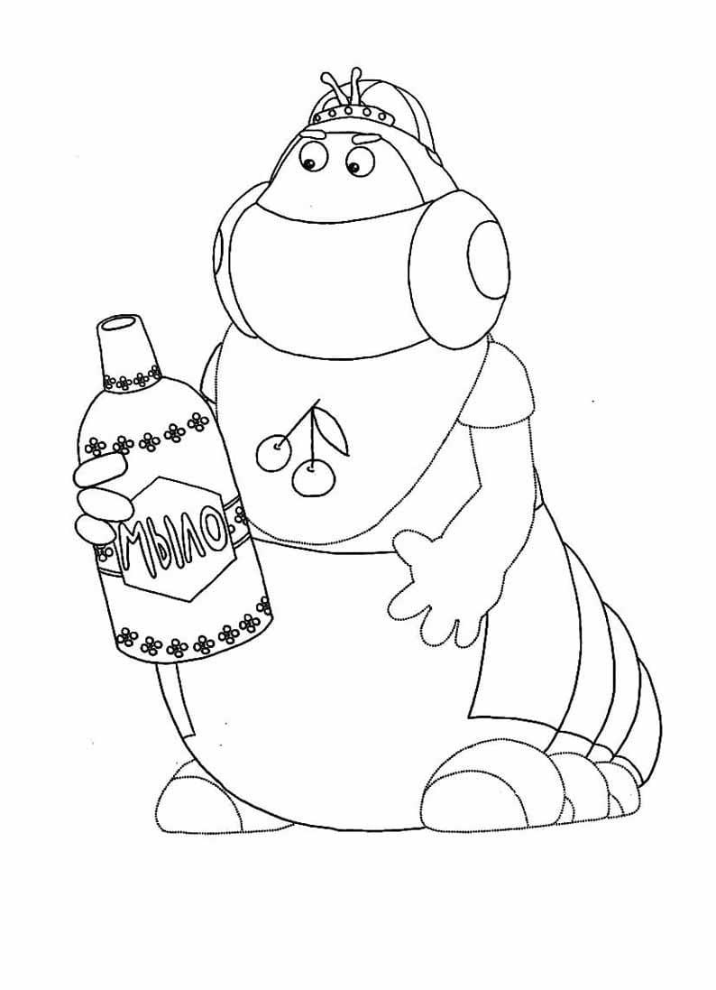 Раскраска персонажа из лунтик 17