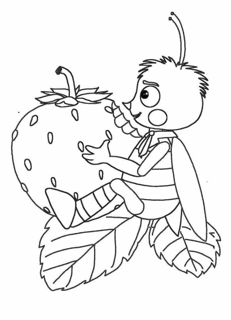 Раскраска персонажа из лунтик 18