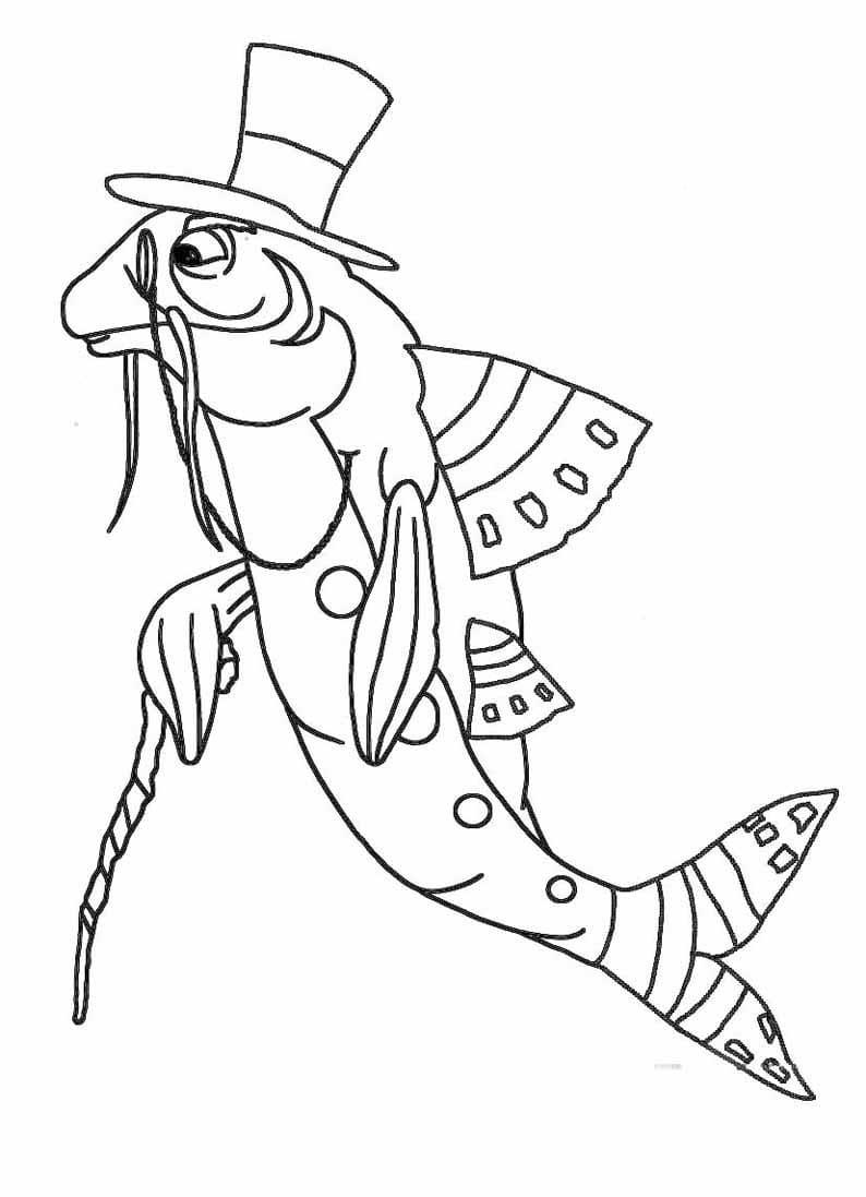 Раскраска персонажа из лунтик 19
