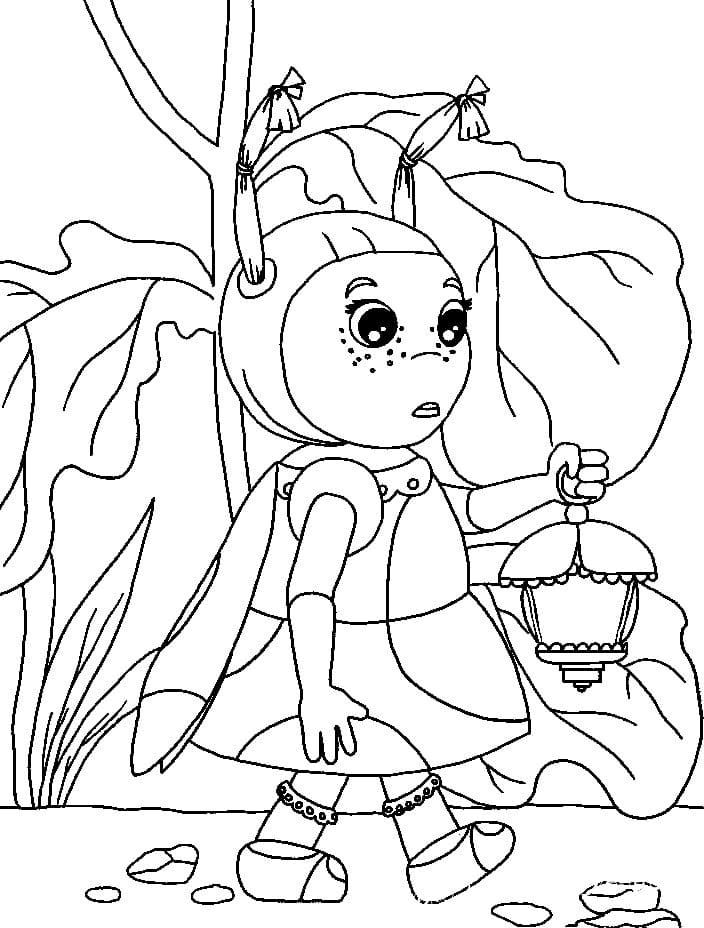 Раскраска персонажа из лунтик 2