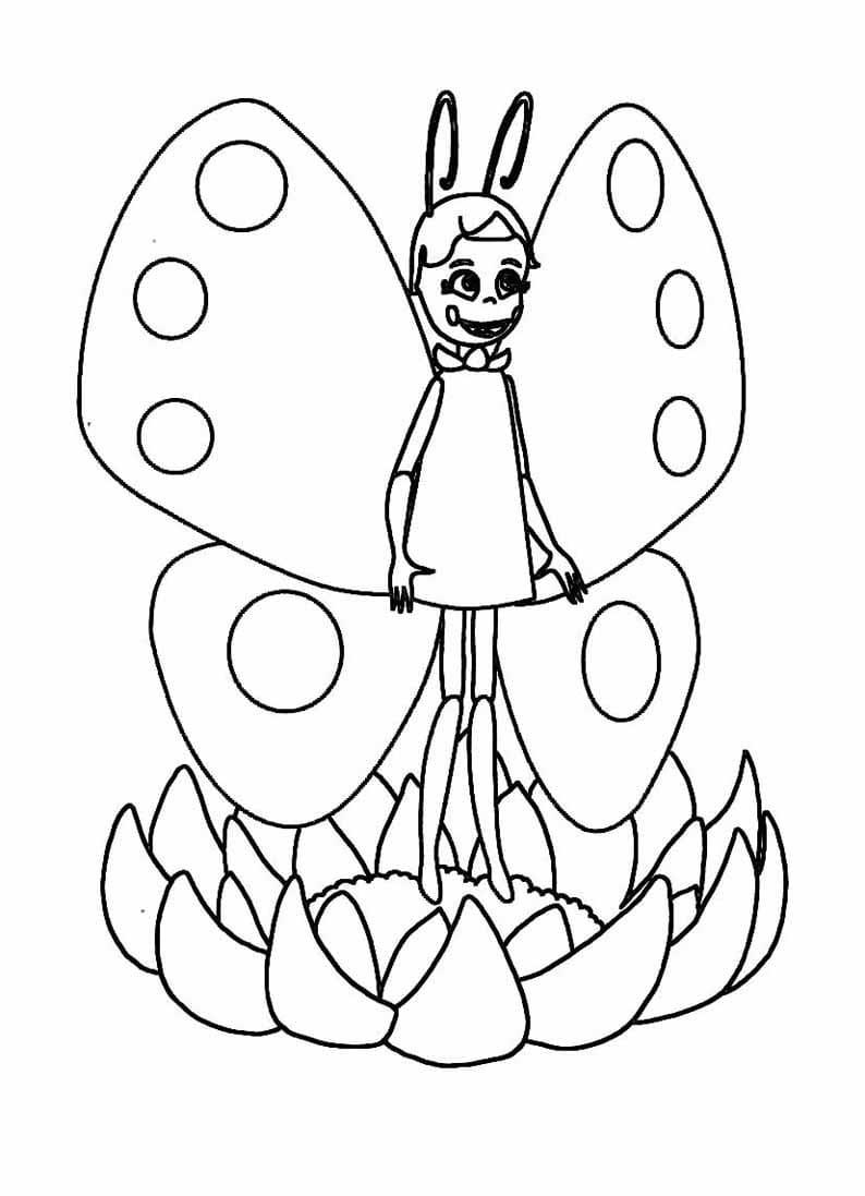 Раскраска персонажа из лунтик 20