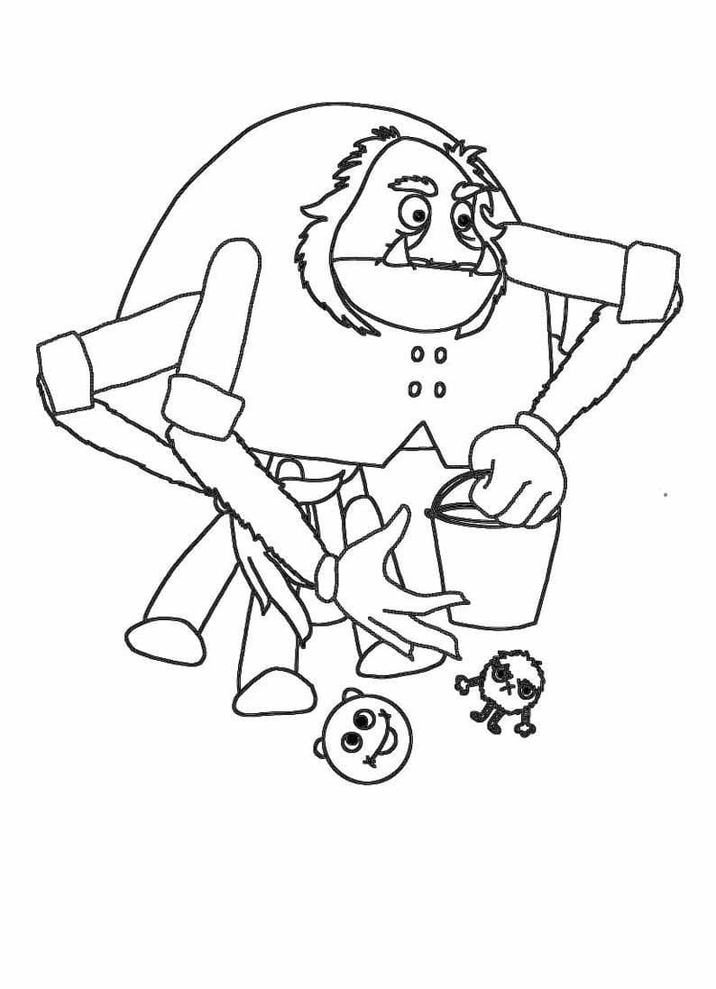 Раскраска персонажа из лунтик 24