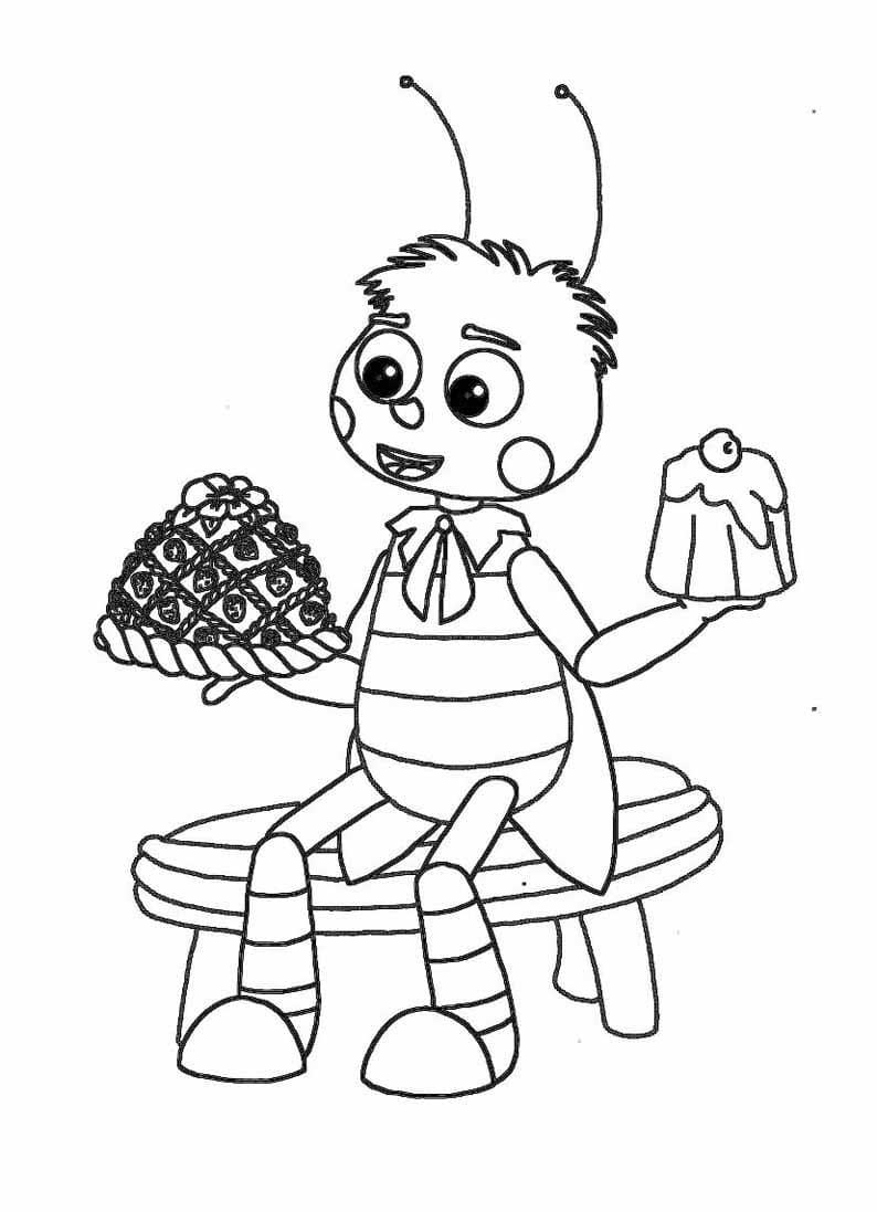 Раскраска персонажа из лунтик 25