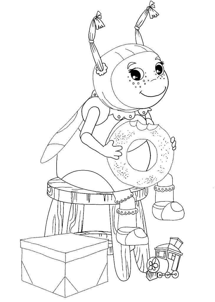 Раскраска персонажа из лунтик 26