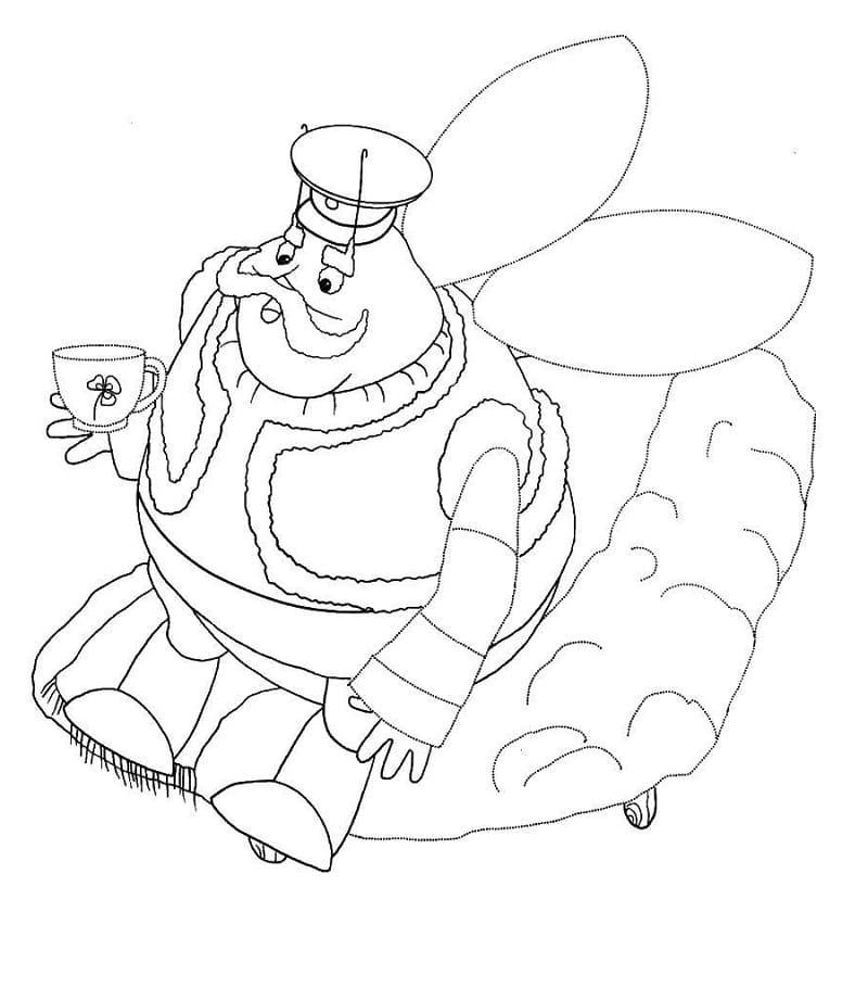 Раскраска персонажа из лунтик 27