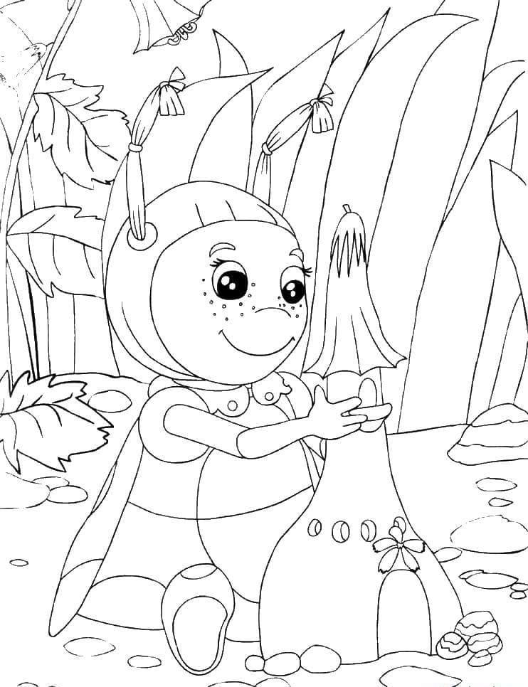 Раскраска персонажа из лунтик 28