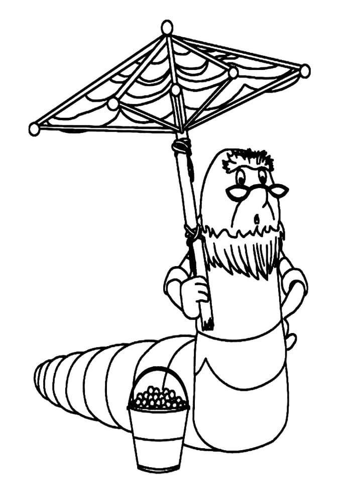 Раскраска персонажа из лунтик 8