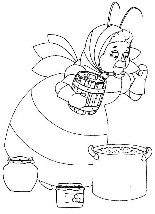 Раскраска персонажа из лунтик