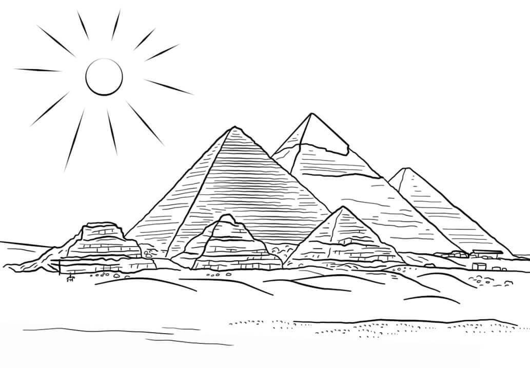 Раскраска Пирамиды Гизы
