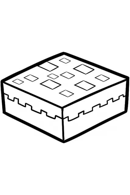 Раскраска Пирог Minecraft