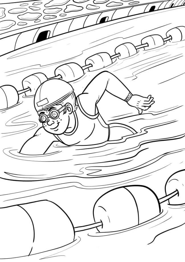 Раскраска Раскраски Водные виды спорта