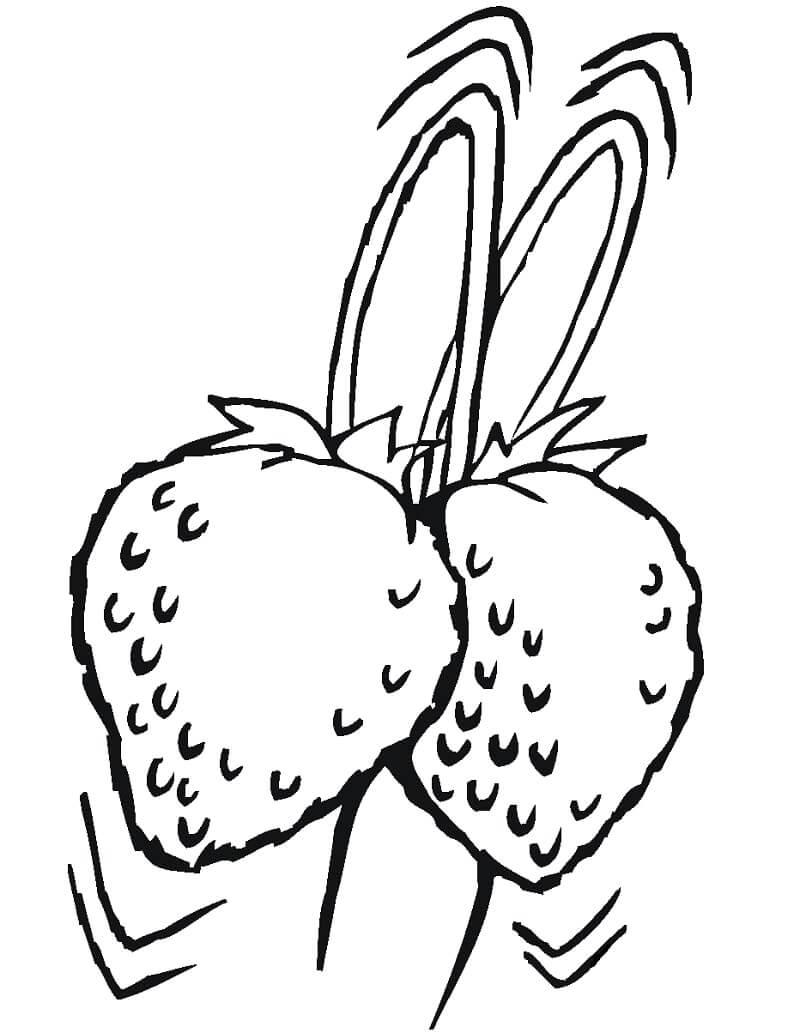Раскраска плоды клубники 2