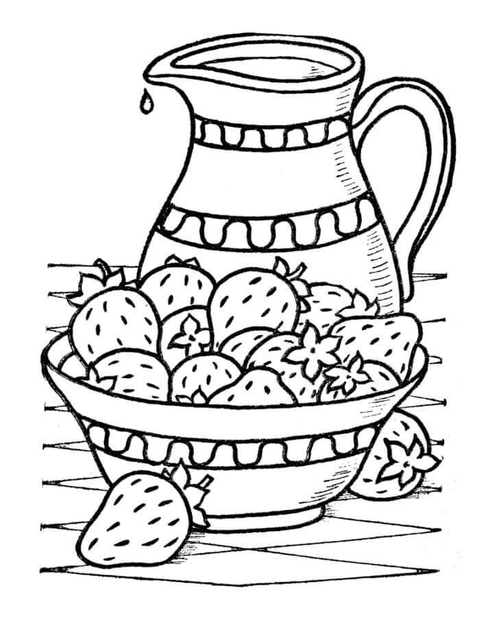Раскраска плоды клубники
