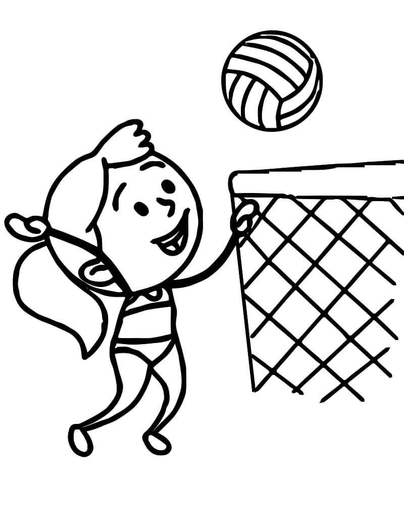 Раскраска пляжный волейбол