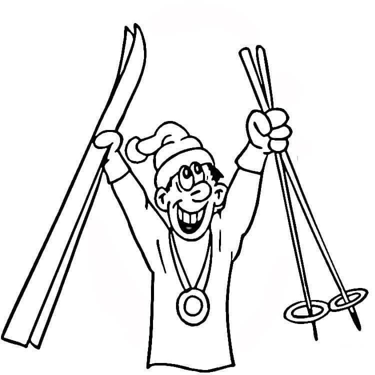 Раскраска Раскраски Зимние виды спорта