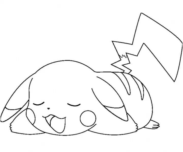 Раскраска покемон пикачу 3