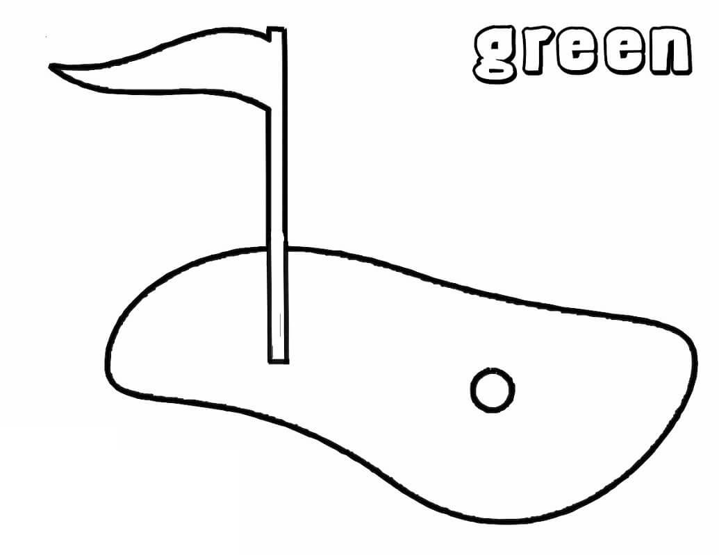 Раскраска поле для гольфа