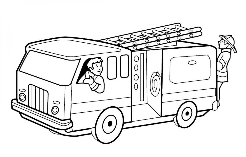 Раскраска Пожарная машина