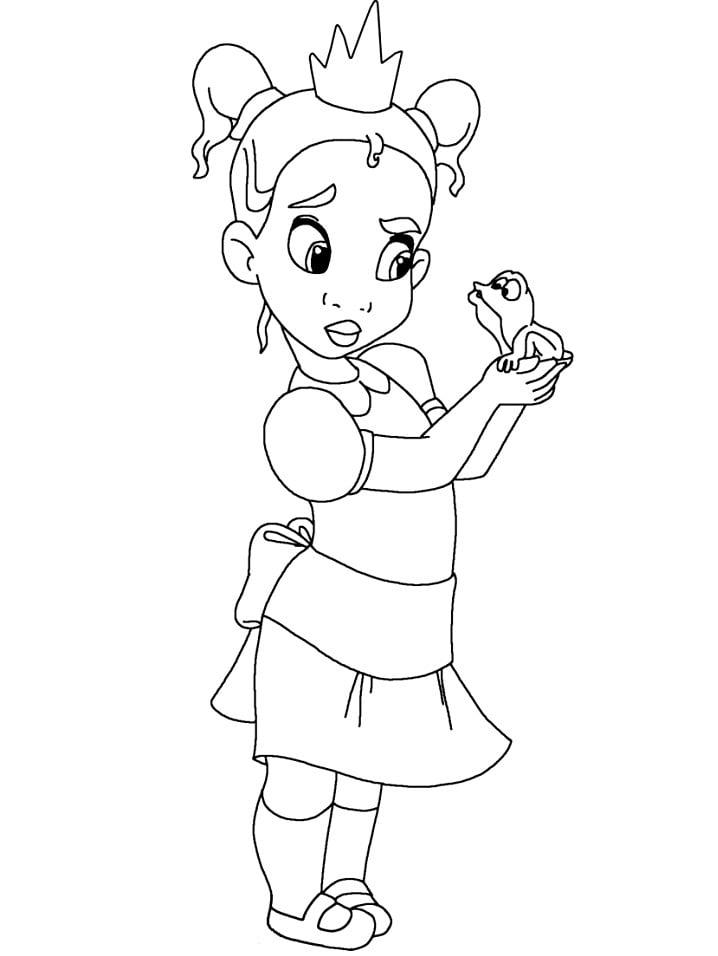 Раскраска прекрасная принцесса тиана