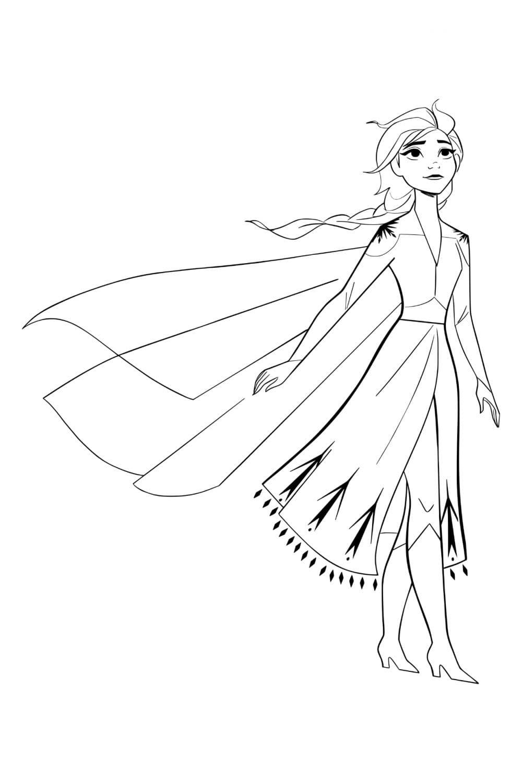 Раскраска Принцесса Эльза
