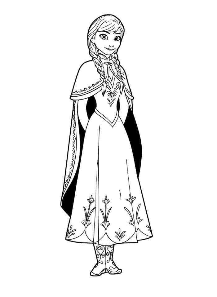 Раскраска Раскраски Принцесса Анна